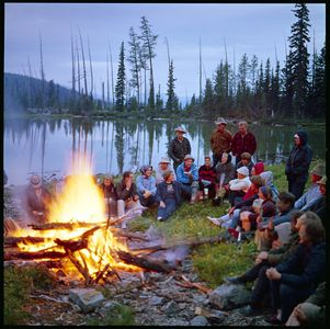 Sierra Club Campfire, Whitelakes, North Cascades National Park, Washington