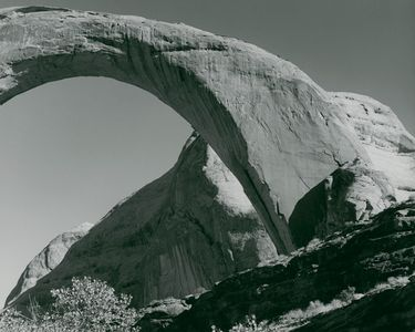 Rainbow Bridge, Close Angle, Rainbow Bridge National Monument, Utah, 1961.