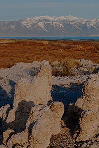 Tufa Formations, Mono Lake, East Side of Sierra Nevada Near Lee Vining, California, copyright 2010 David Leland Hyde.