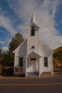 Community Church, Taylorsville, Indian Valley, Plumas County, Northern Sierra Nevada, California, copyright 2012 David Leland Hyde.