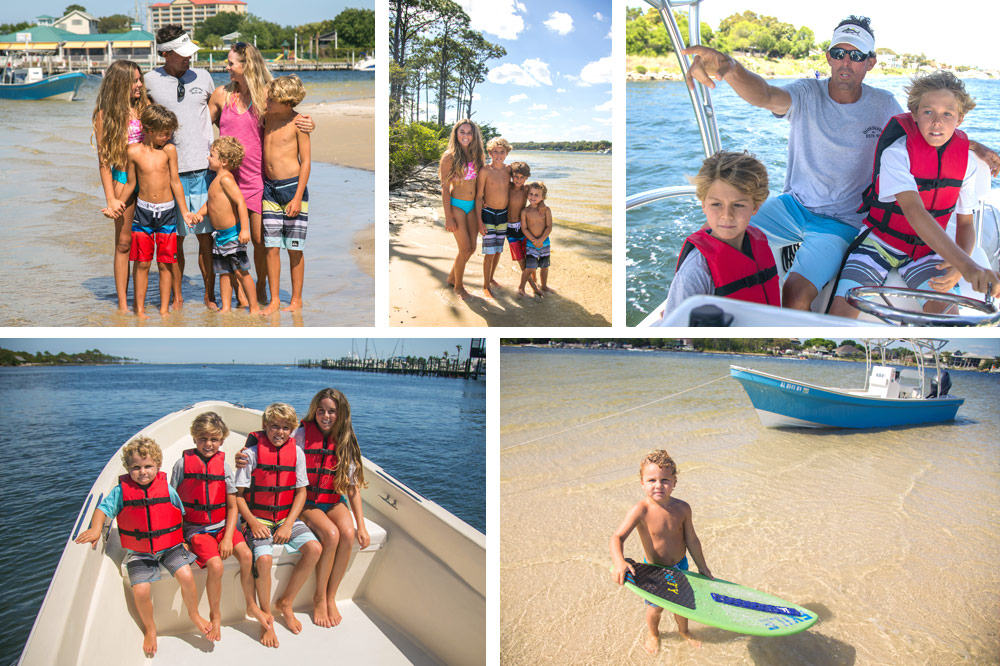 Family fun on our photo adventure boat