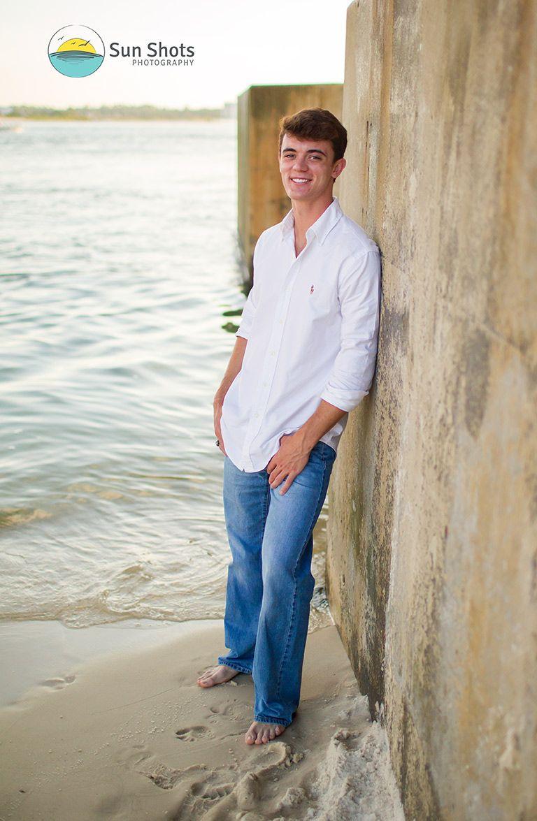 Professional beach portraits of high school seniors