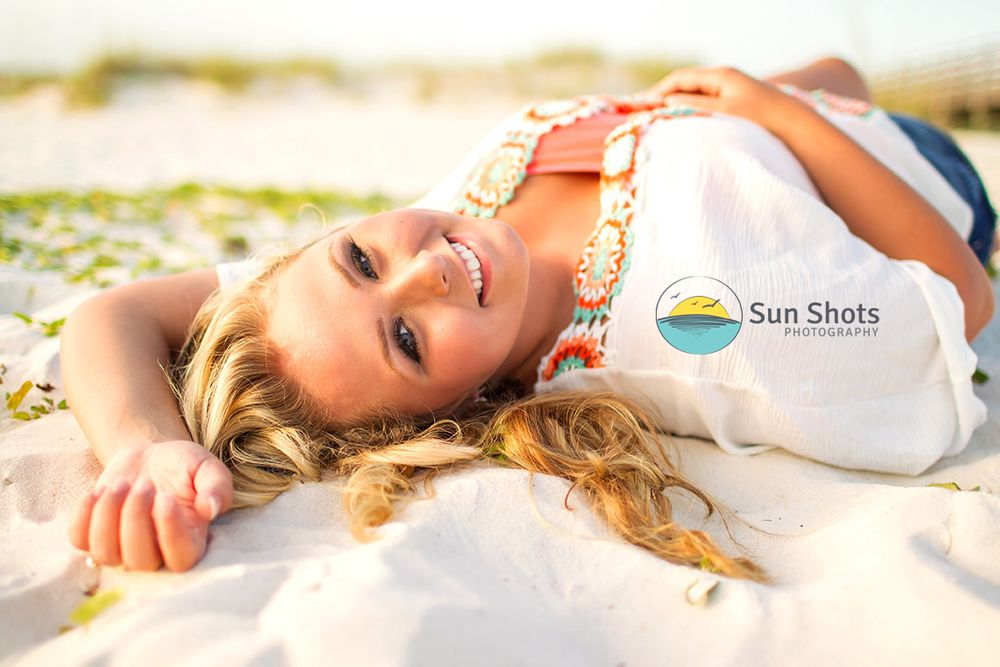 Professional senior beach portraits