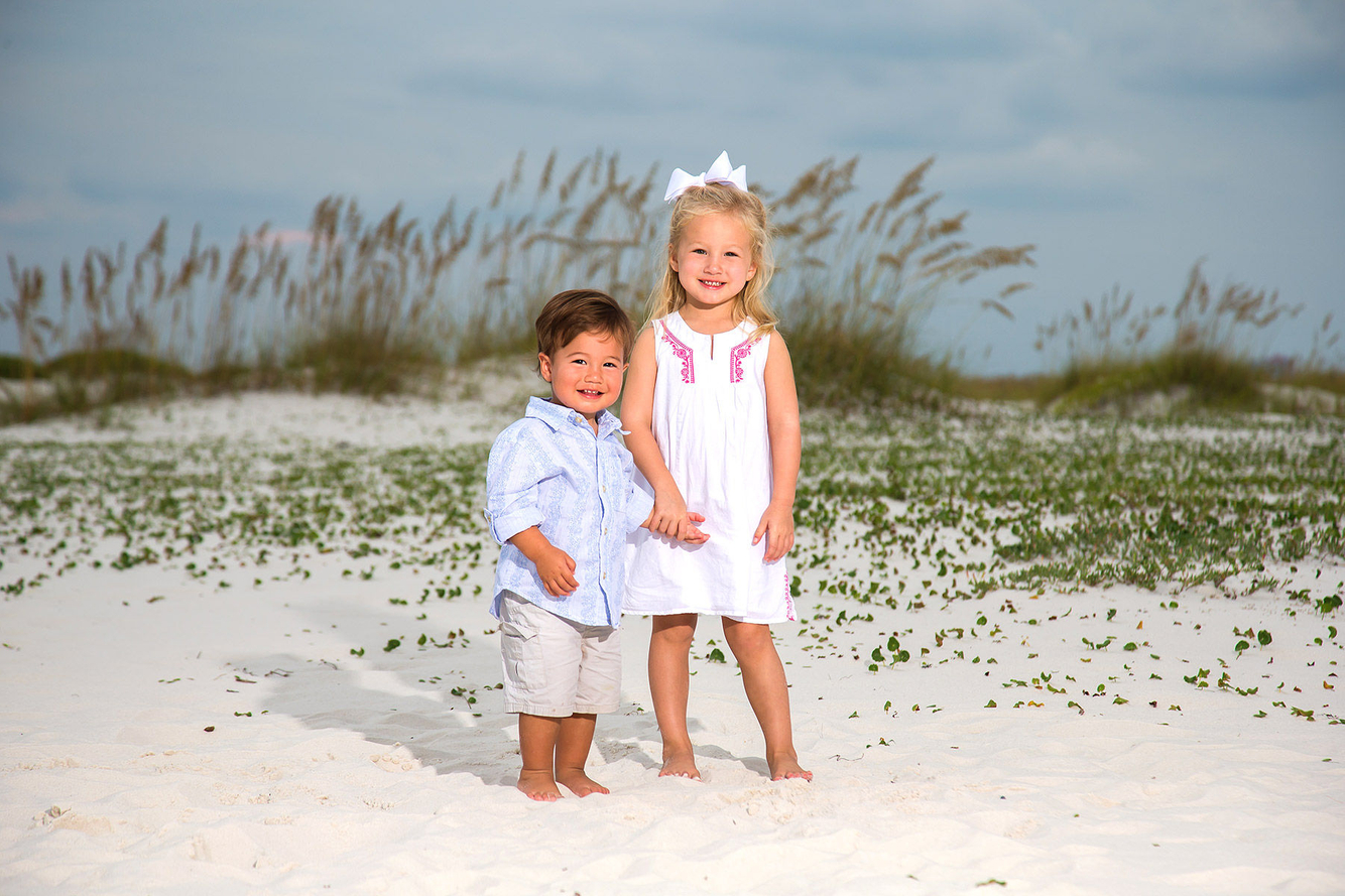 Picture of siblings on beach