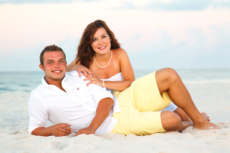 Engagement picture of a young couple