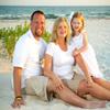 Photo of family of three on beach