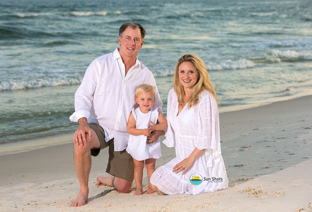 Sunset family portraits in Gulf Shores, Alabama