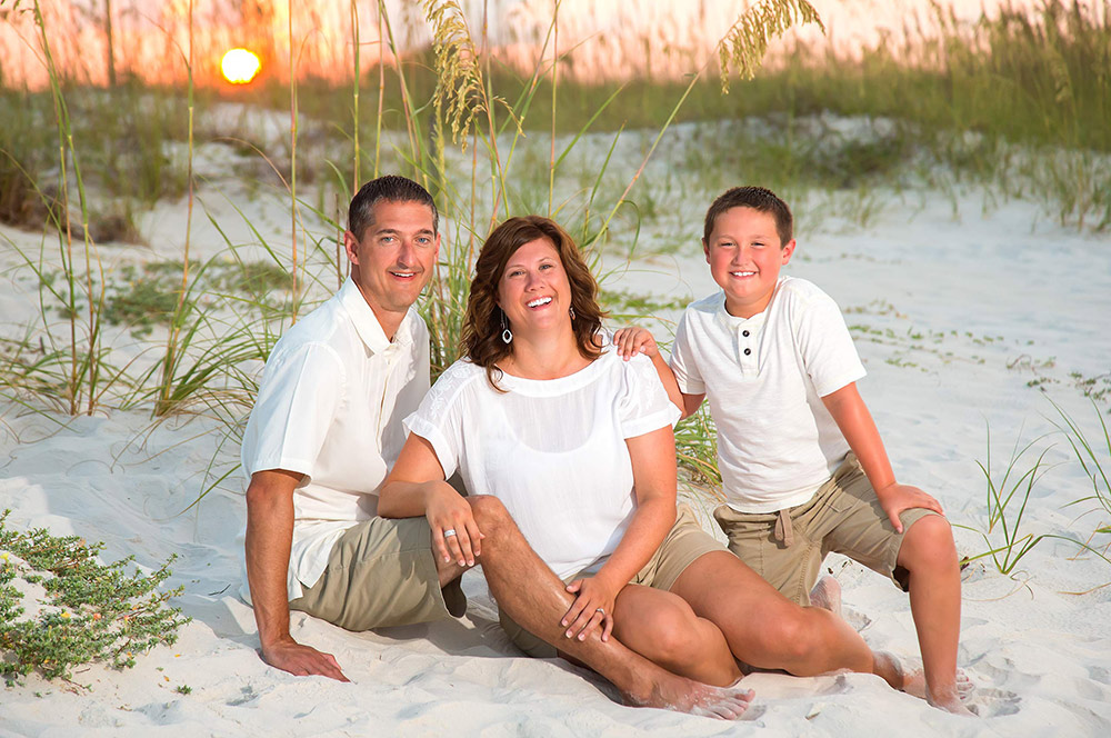 Sunset Family Beach Portrait