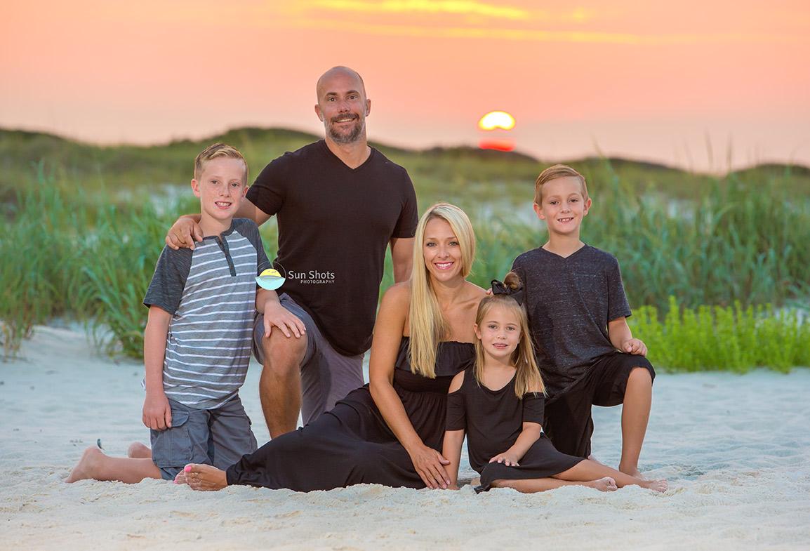 Sunrise family beach portrait