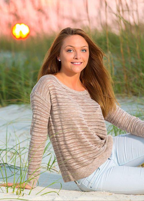 Senior portraits on the beach