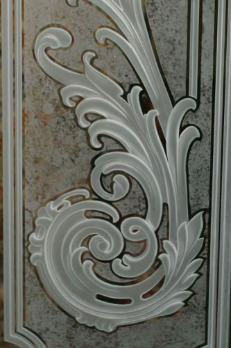 Front entry door of residence. Close up of sidelight.