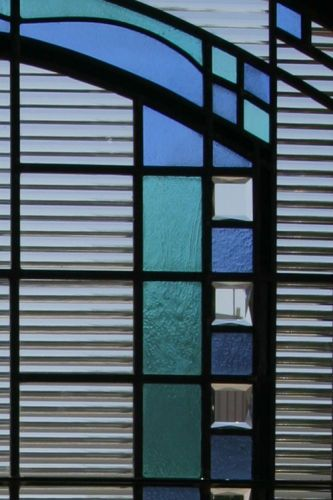 Close up of FLW window - Leaded Glass - Jewels - Lead Came construction