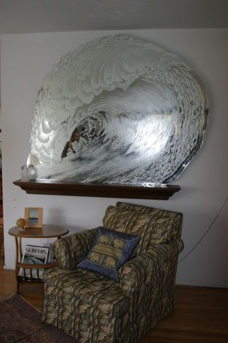 Art Glass, Wave mirror, Huntington Beach, CA