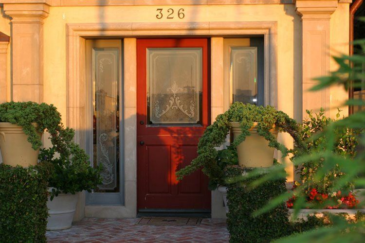 Custom front doors, and side lights. Lido Island Residence - Newport Beach, CA.