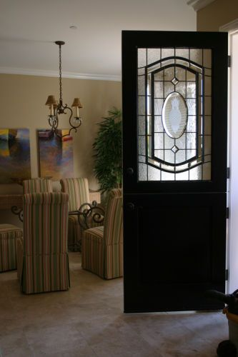 Leaded & Carved dutch Door
