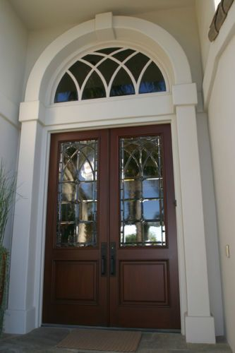 Leaded Glass door for Michael & Ellie Gordon -Emerald Bay, Laguna Beach, CA