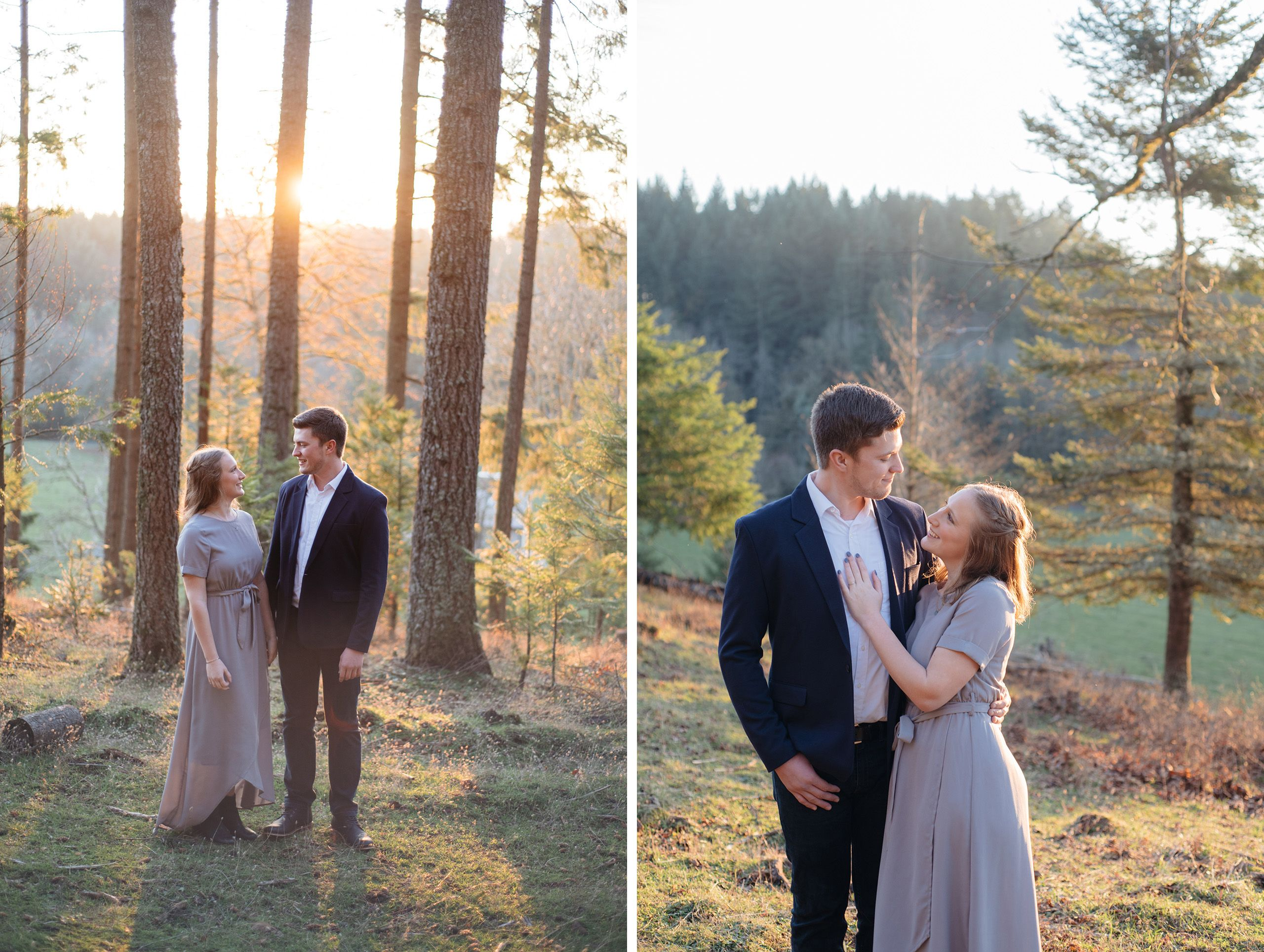 Winter engagement photos in Oregon
