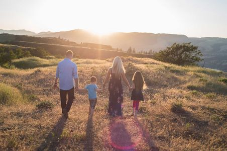 Sunset family photo shoot