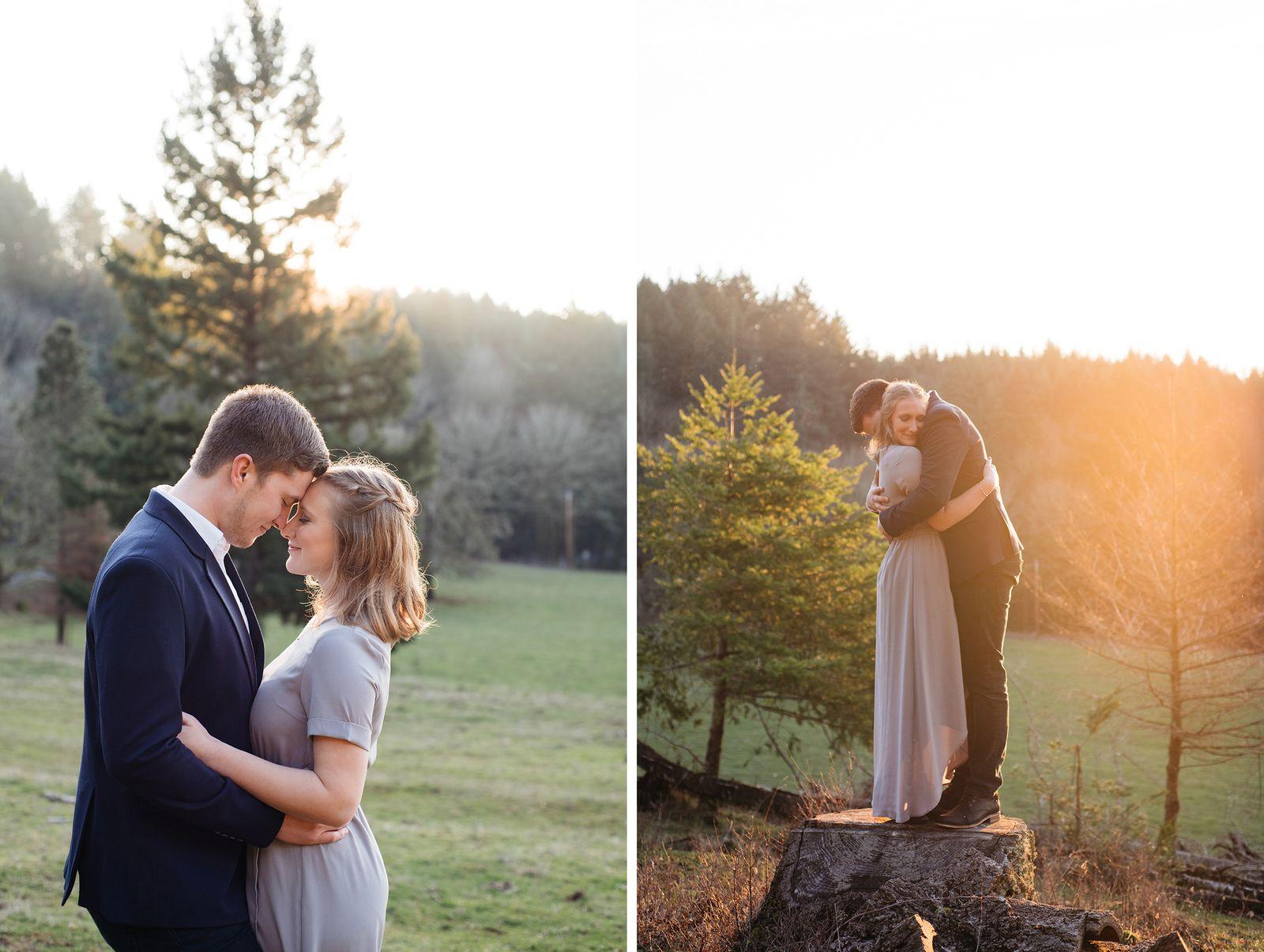 Winter engagement photos in Oregon