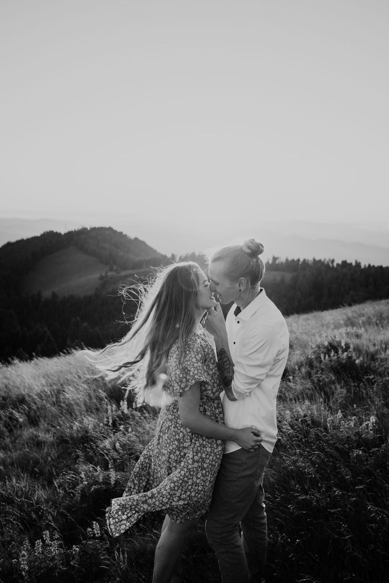 Marys Peak engagement photos