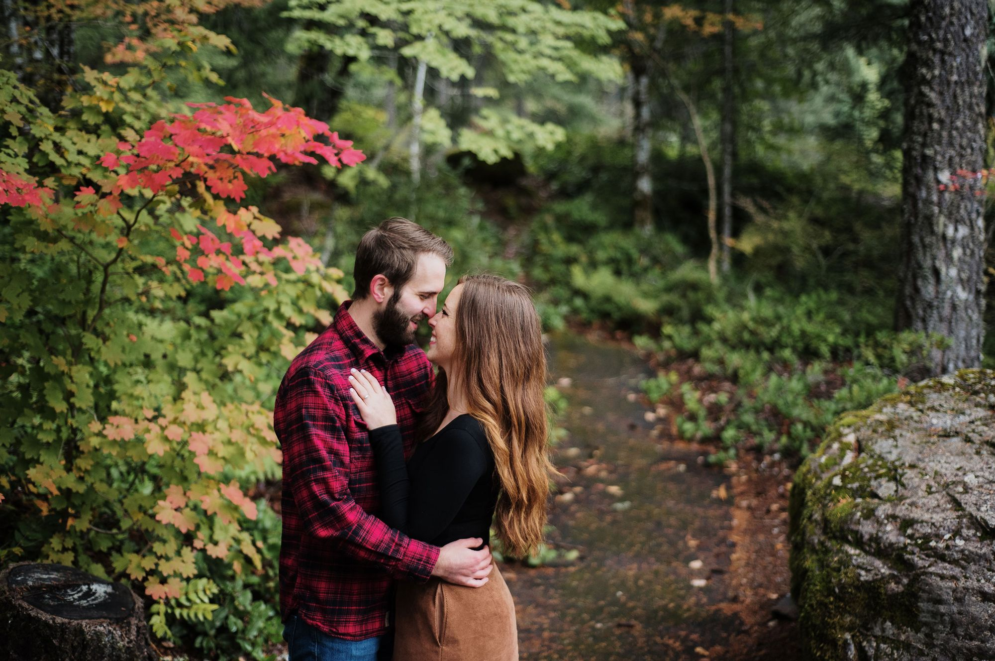 Oregon fall engagement photos
