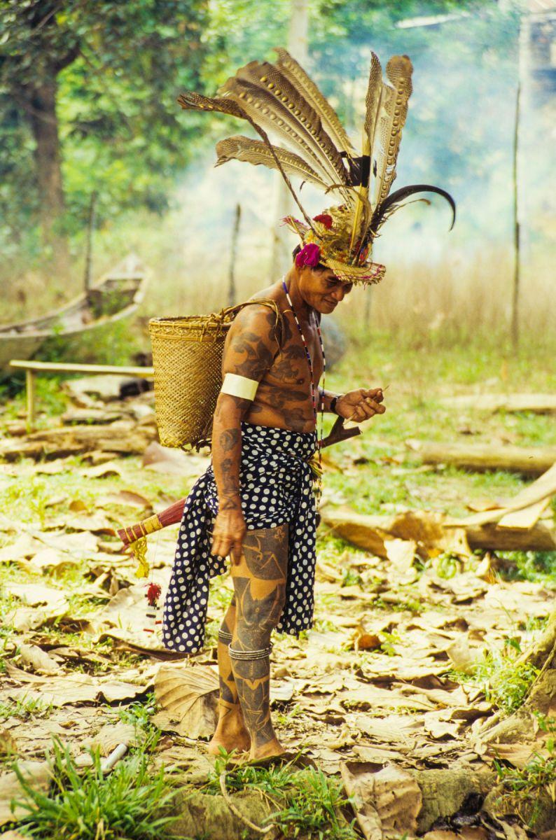 Iban tribesman in Sarawak, Borneo