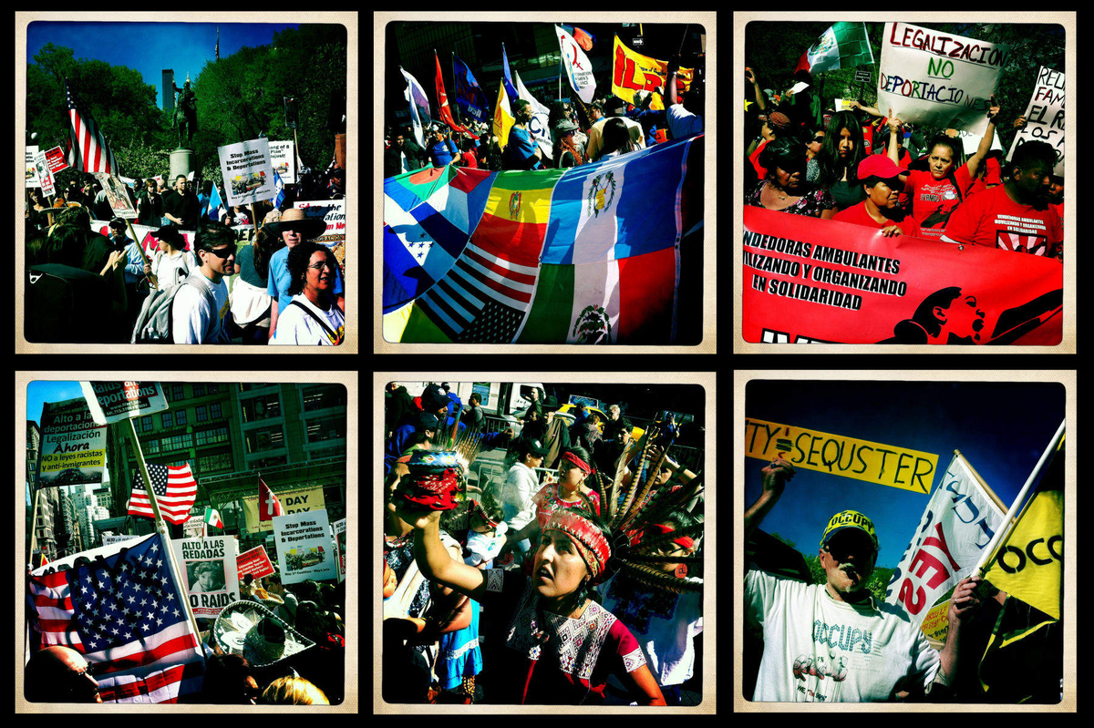 Immigration & fair wages protest in Union Square, NYC