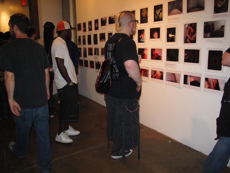 The images displayed on the walls of the gallery at 3d Ward