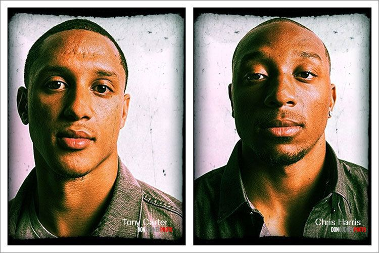 Tony Carter & Chris Harris of the Denver Broncos, 2012.