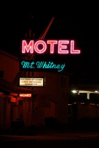 Motel Mount Whitney, Lone Pine, Ca.