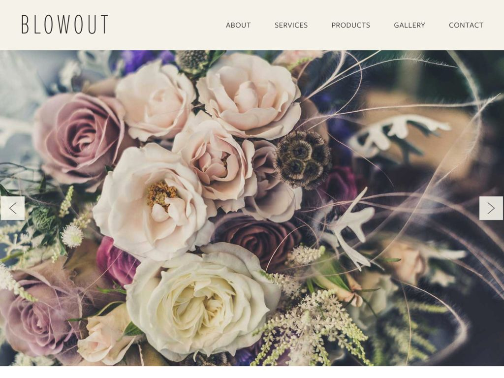 Florist Website Templates