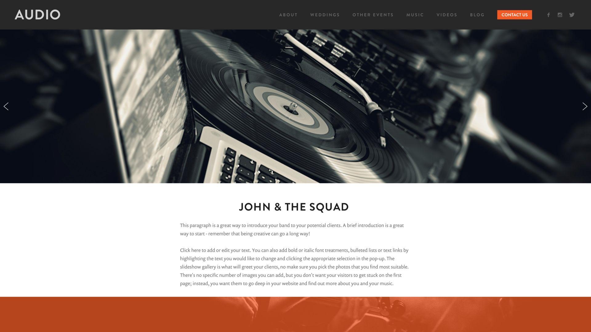 DJ Website Builder