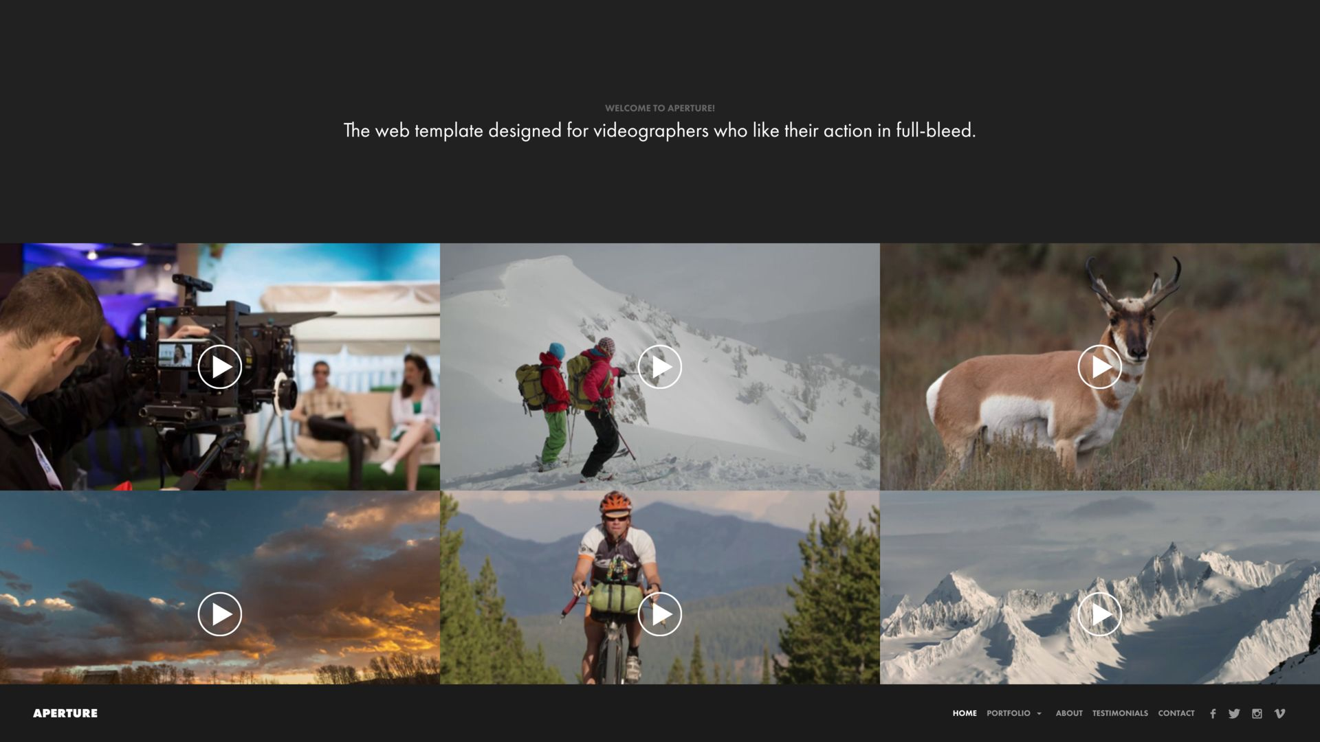 Videography Website Builder