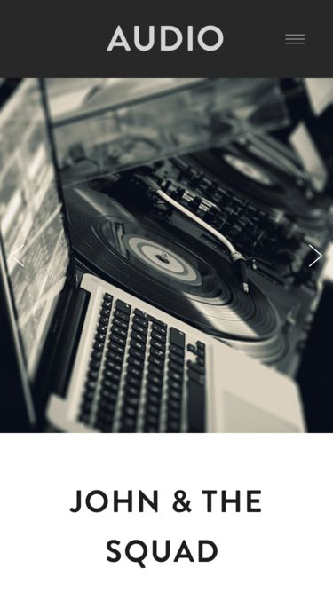 Creative Website Template for Music Artists and DJs