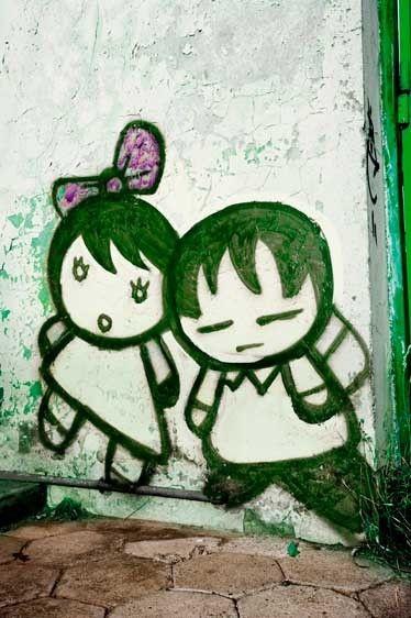 SAMER_04794_Londie-G_PadelskyMural of kids, Puerto Montt, Chile, South America