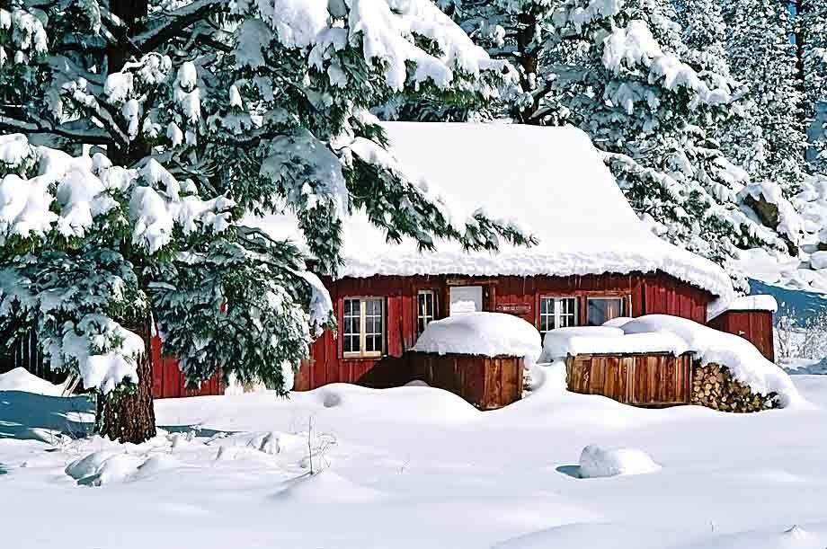 ES35-2921_Londie_G_PadelskySnowed-in, mountain cabin in the Eastern Sierra, California