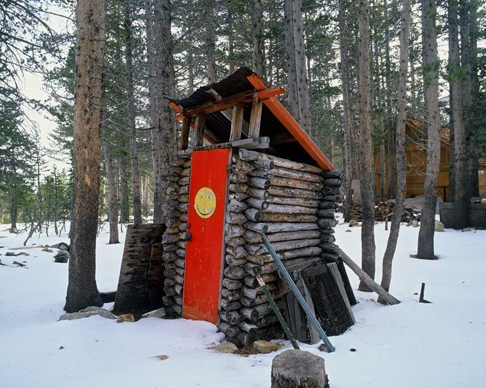 ES-4912_Londie_G_PadelskySmily face outhouse, Toiyabe National Forest, California