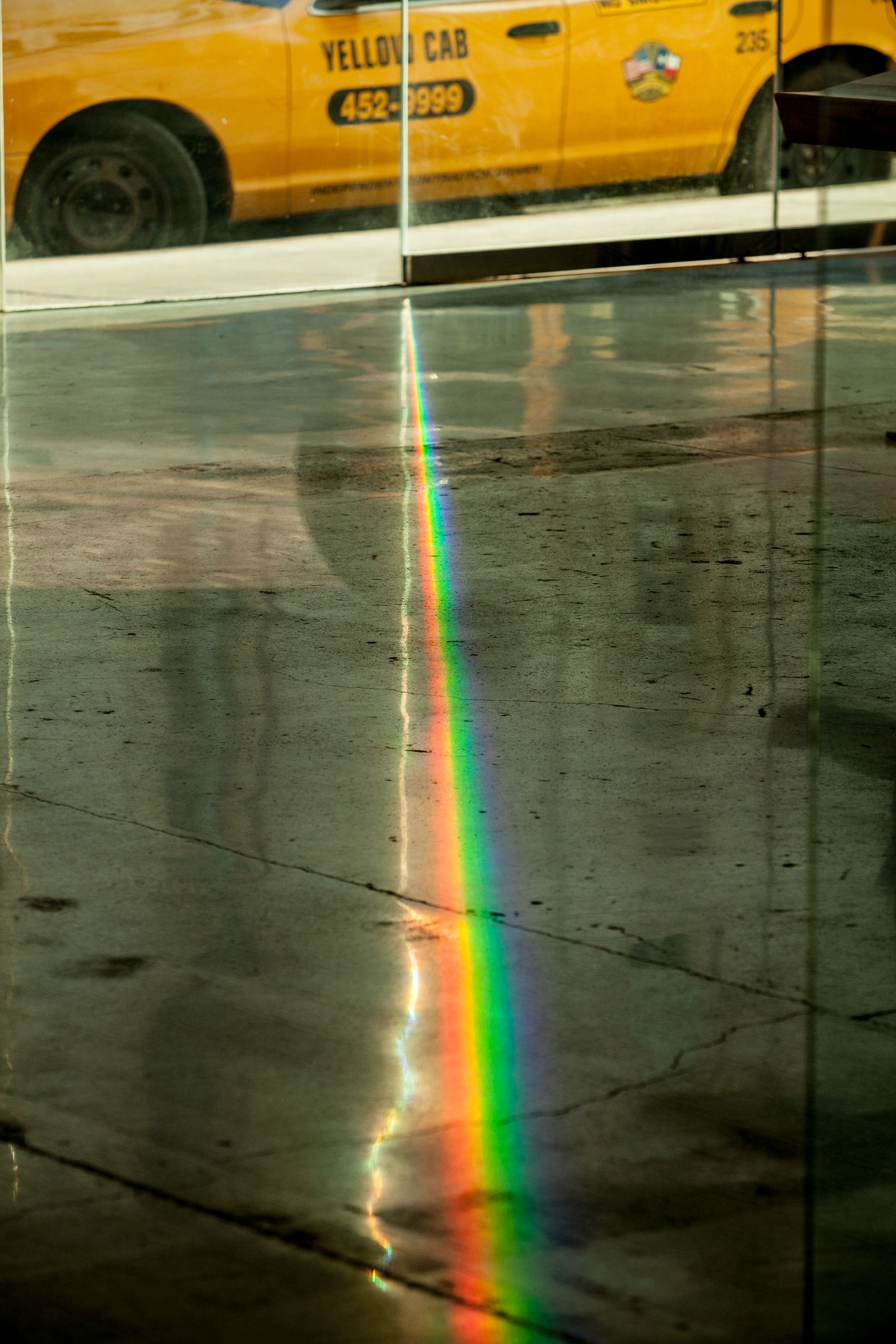 Cab and prism of light