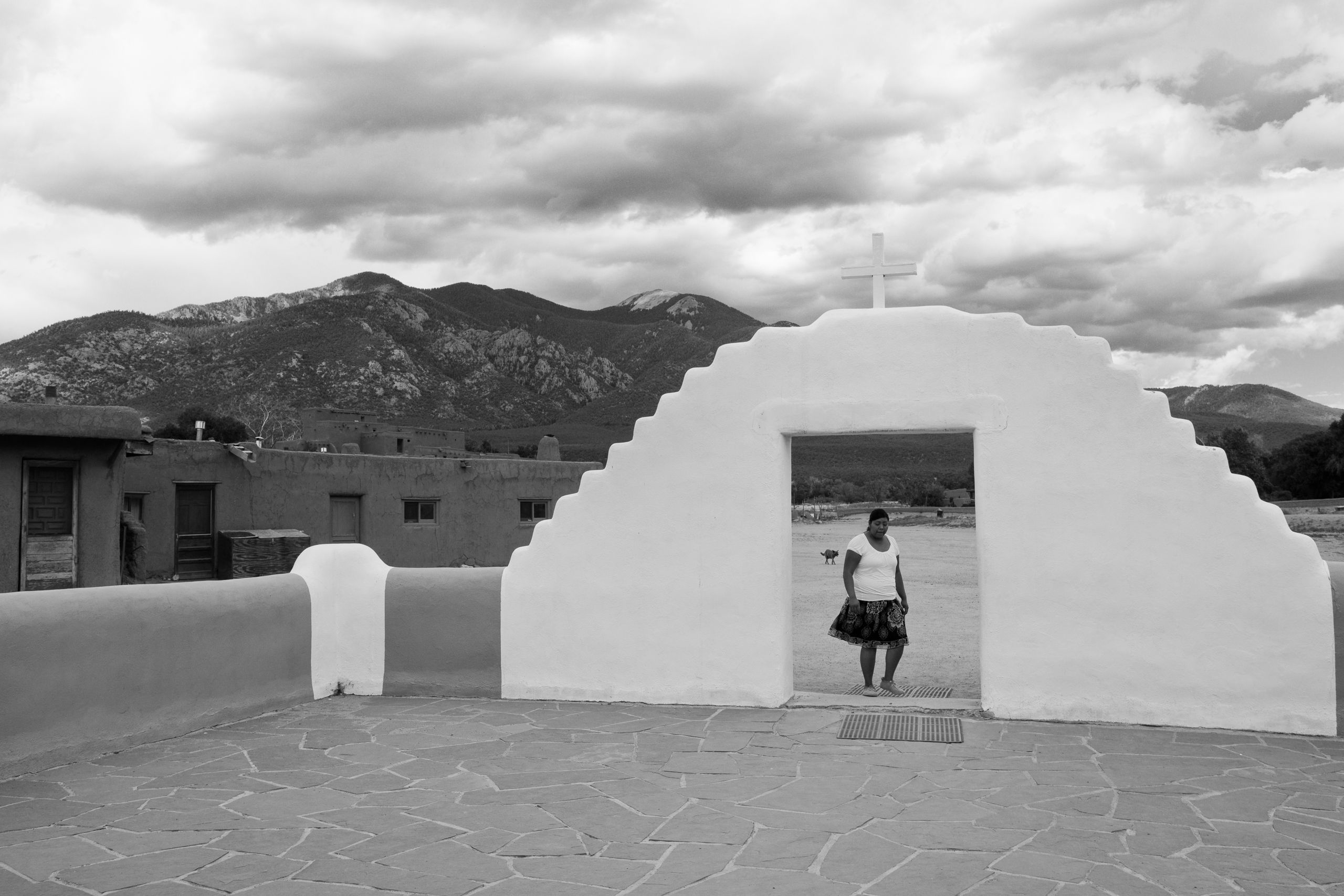 Taos Woman and Dog