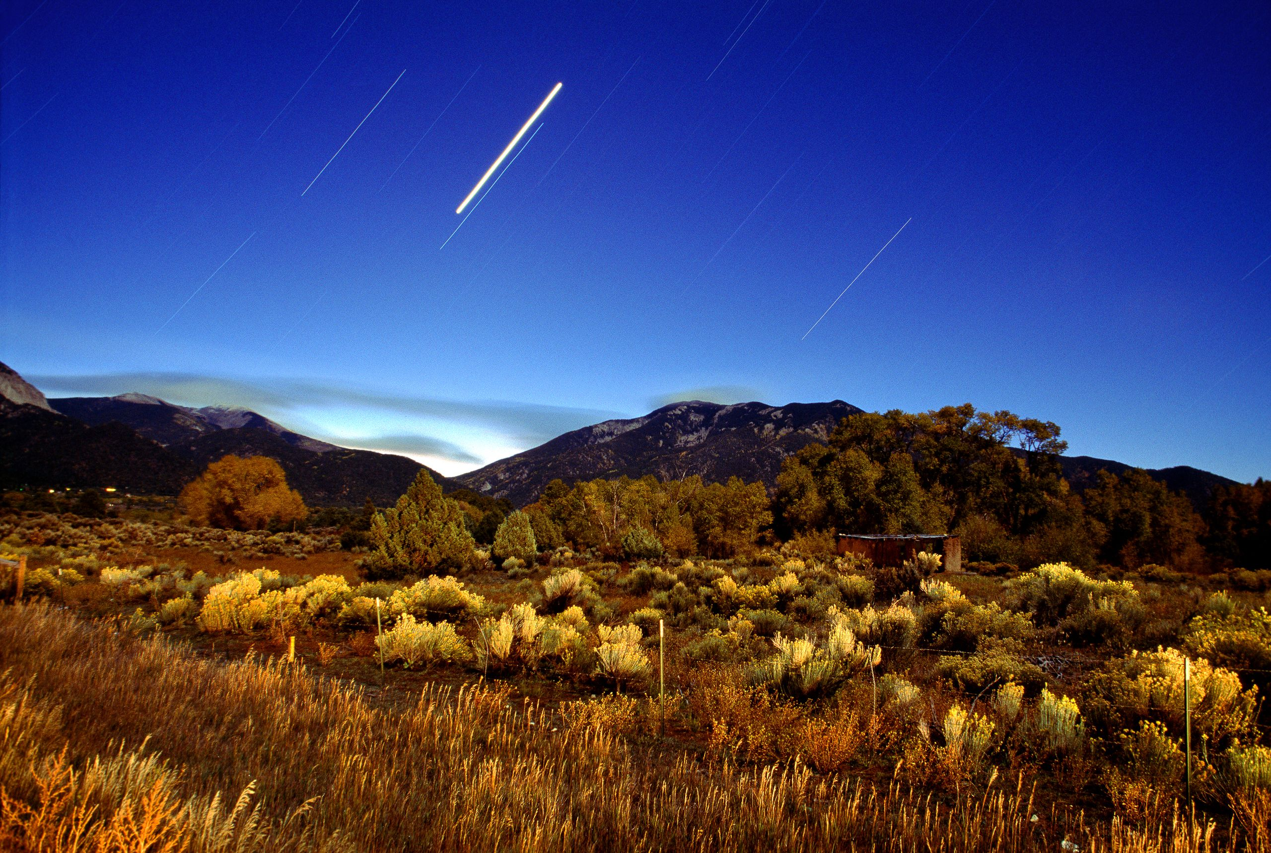 Sacred Mountain and Star Trails