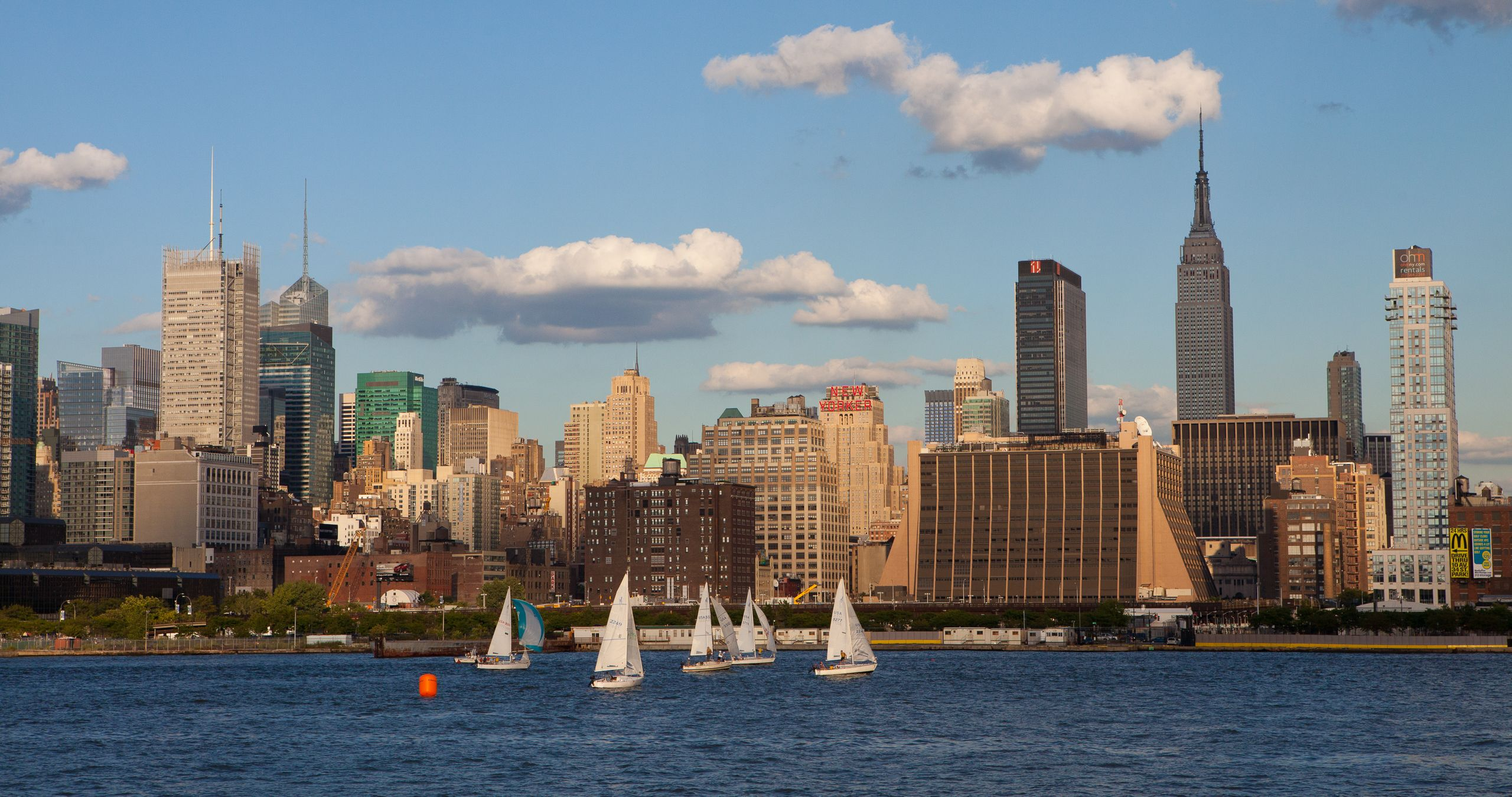 View of New York City from the Hudson River