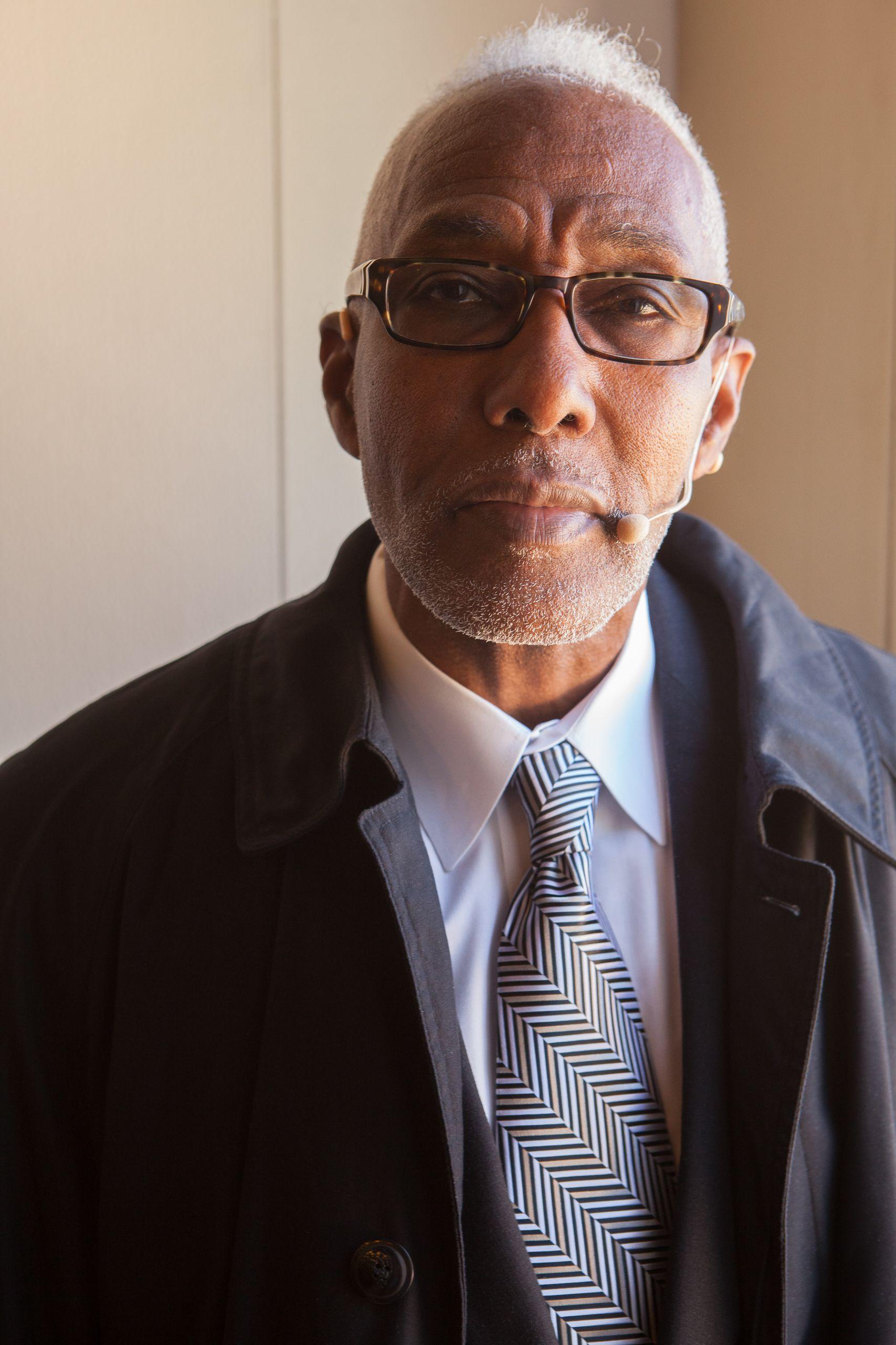 Pastor Willie L. Monnet by doorway