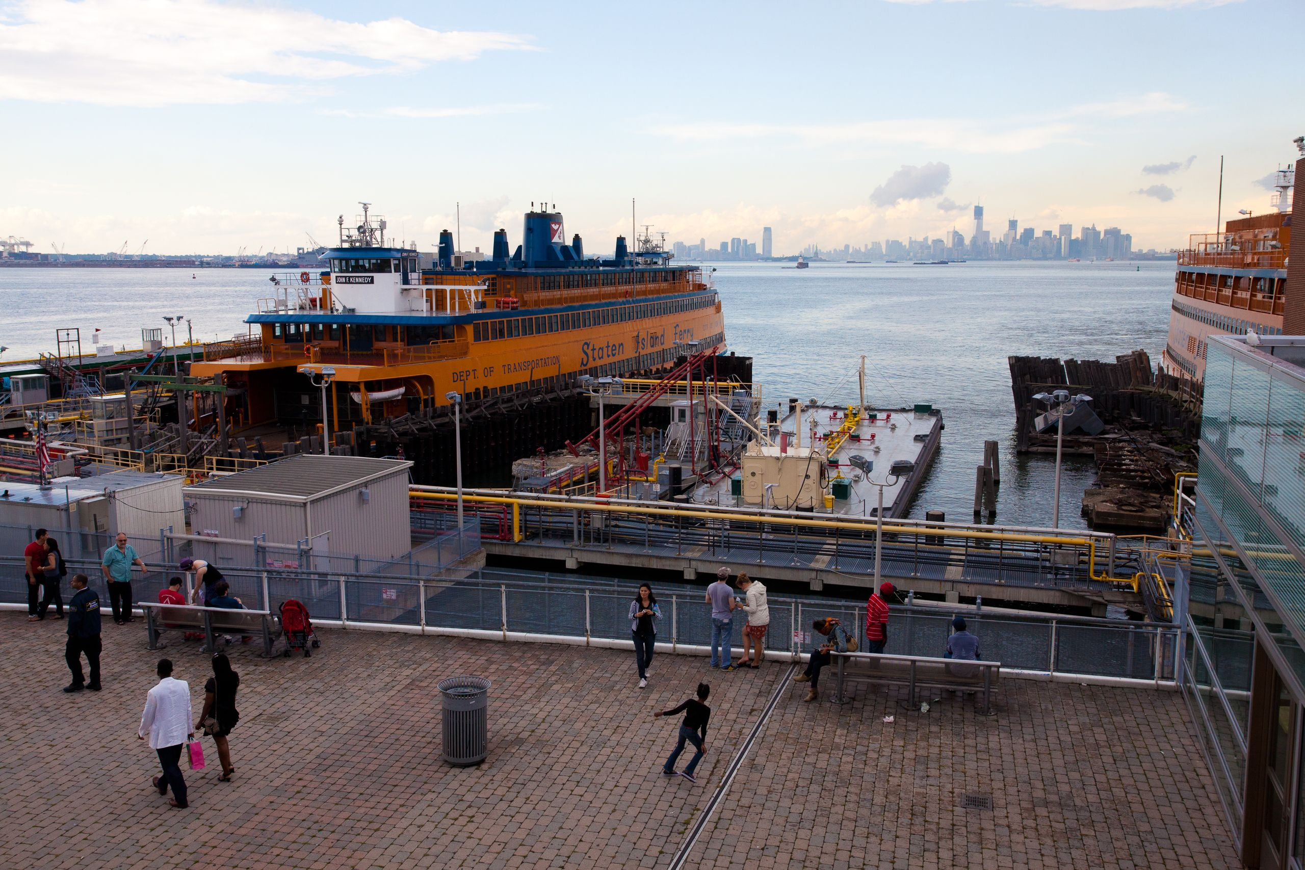 View of the Freedom Tower under construction from Staten Island, New York - August 2012