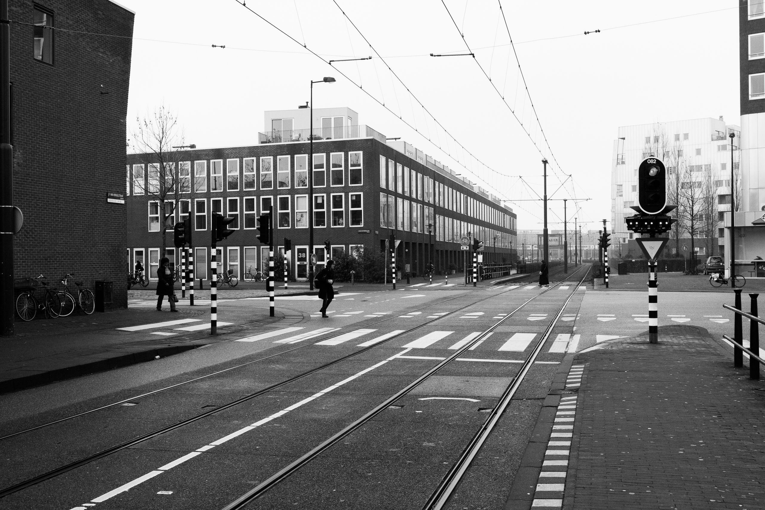 Tram Tracks, Amsterdam The Netherlands