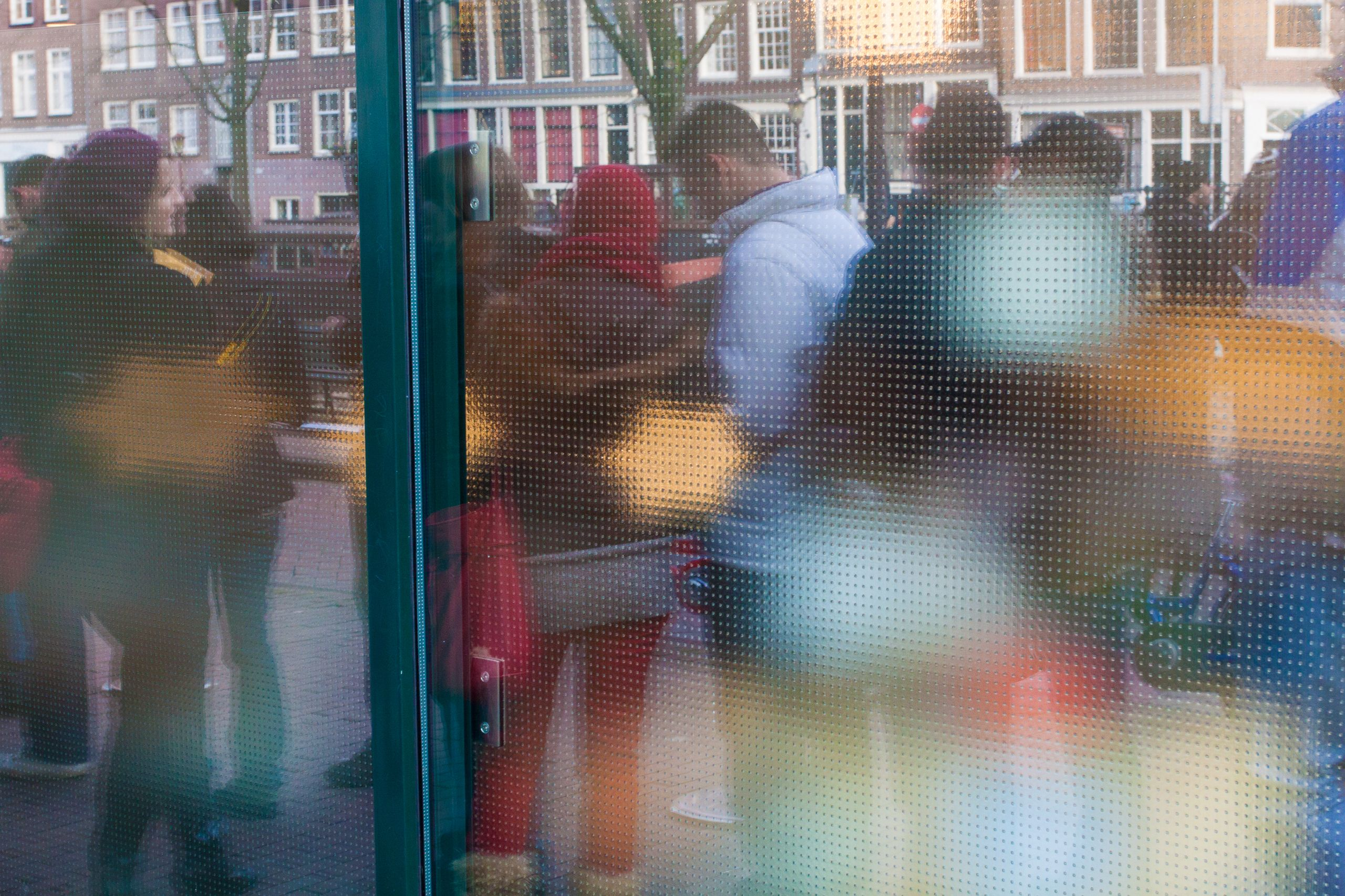 Visitors Wait In Line at the Anne Frank House