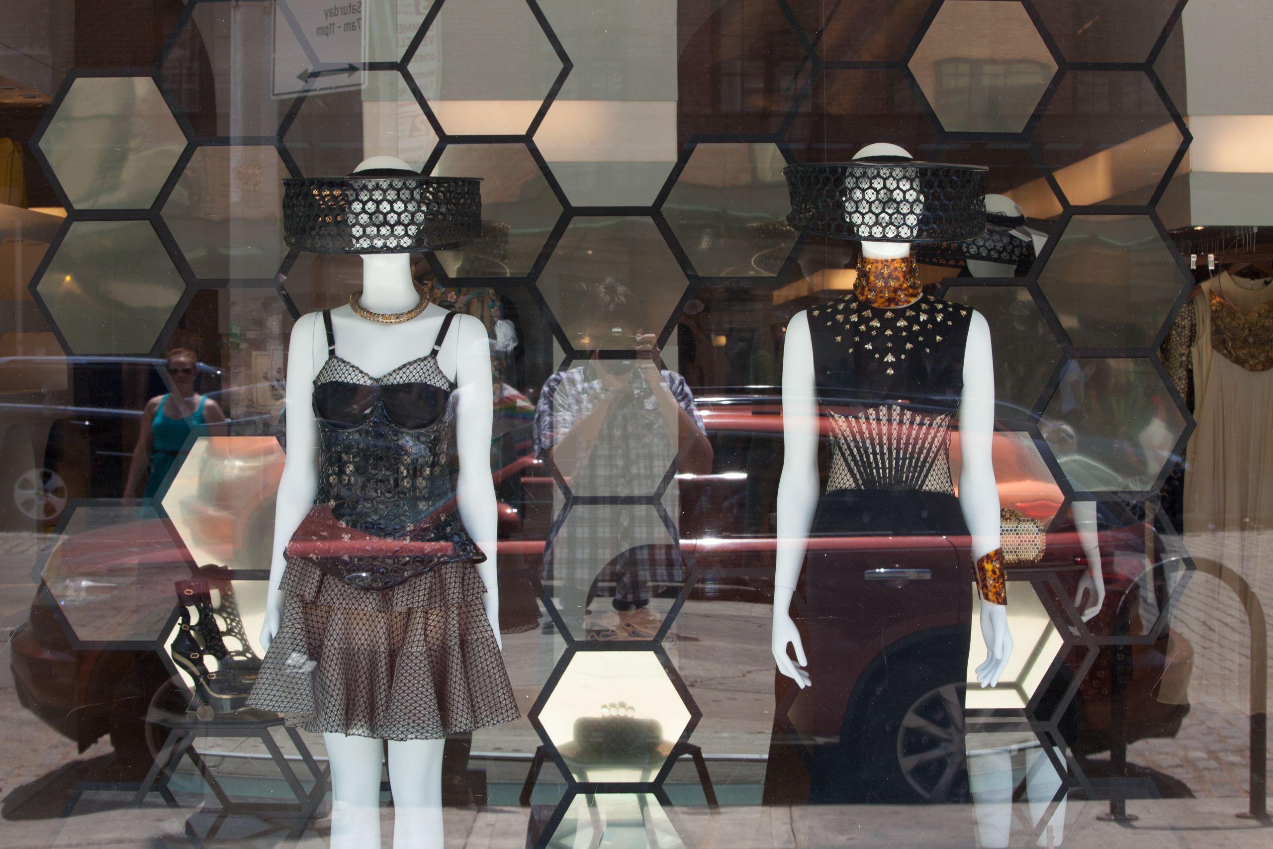Self Portrait In Boutique Window