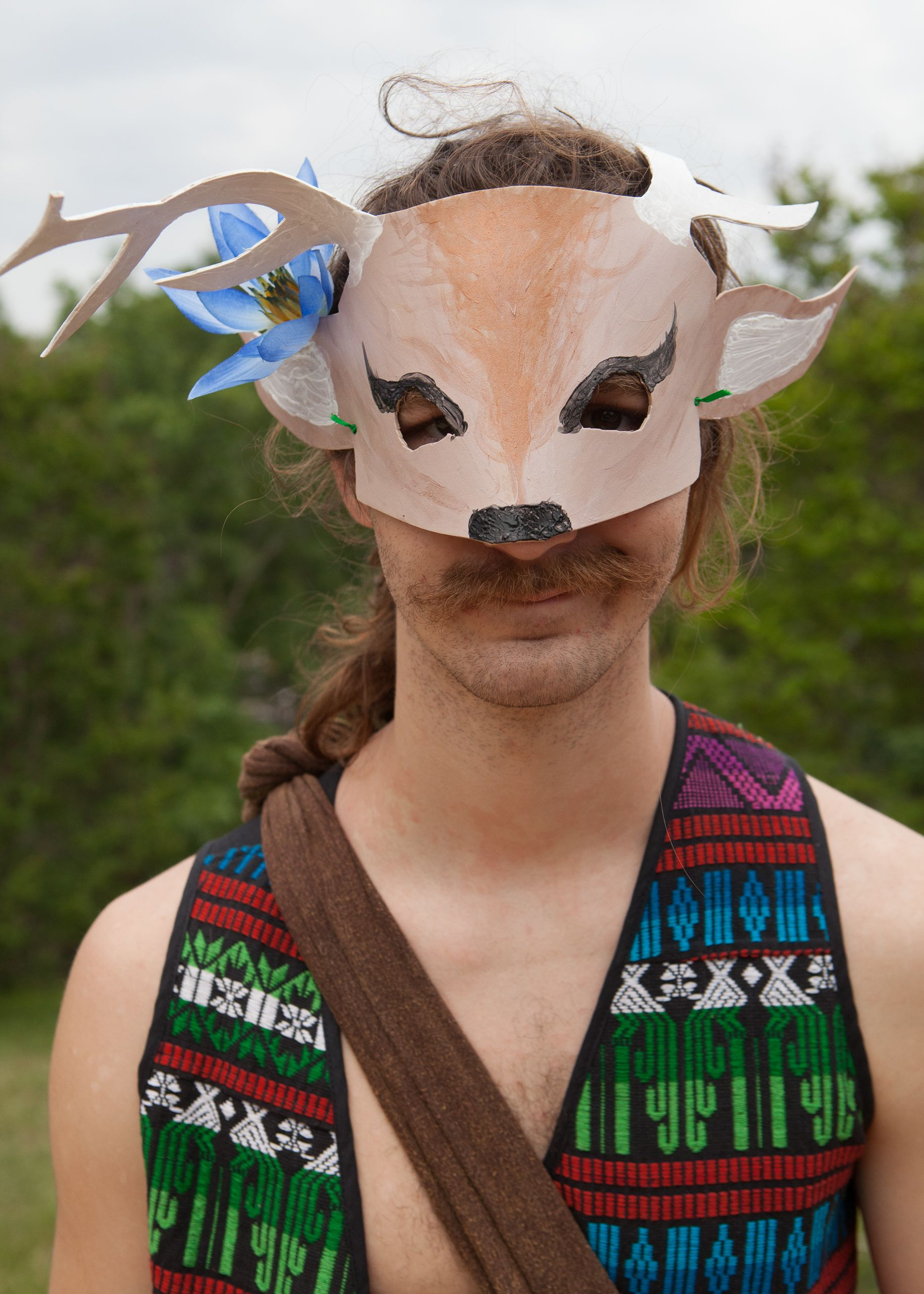 Man With Deer Mask