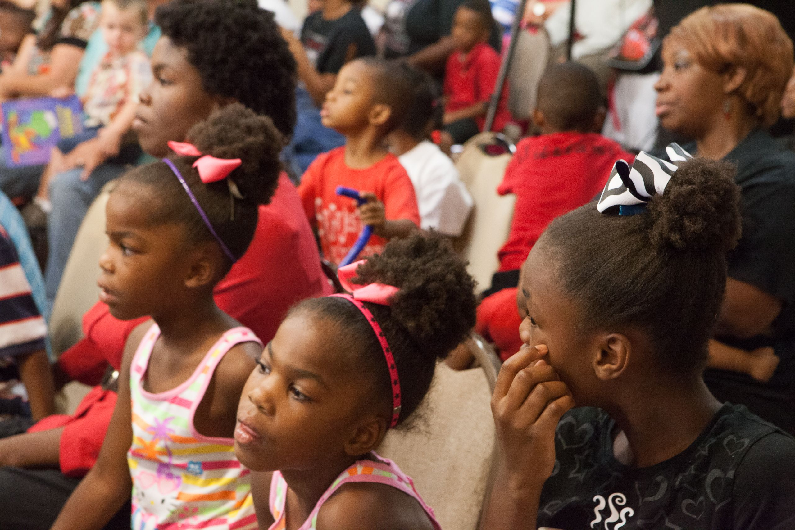 Parishioners take in stories from the Hurricane Katrina Anniversary Celebration
