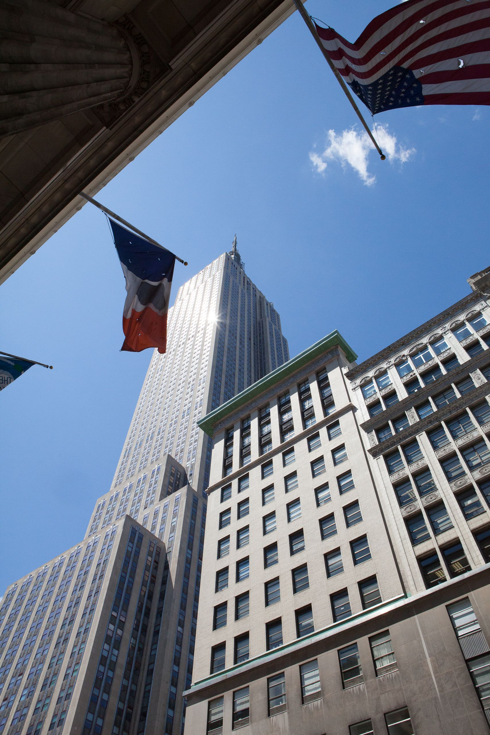 The Empire State Building from base