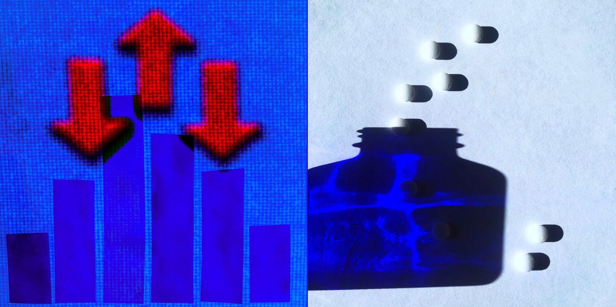 arrows and blue bottle.jpg